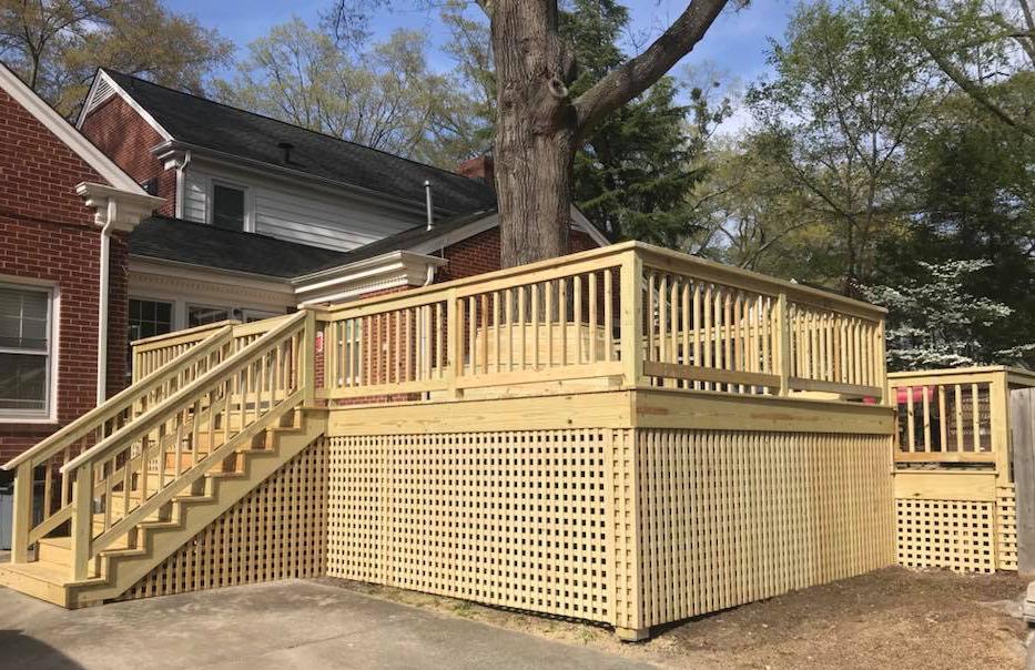 Holly Springs Builders Custom Deck Southern