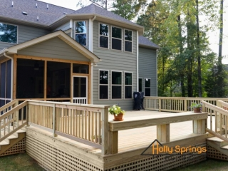 Large custom built deck