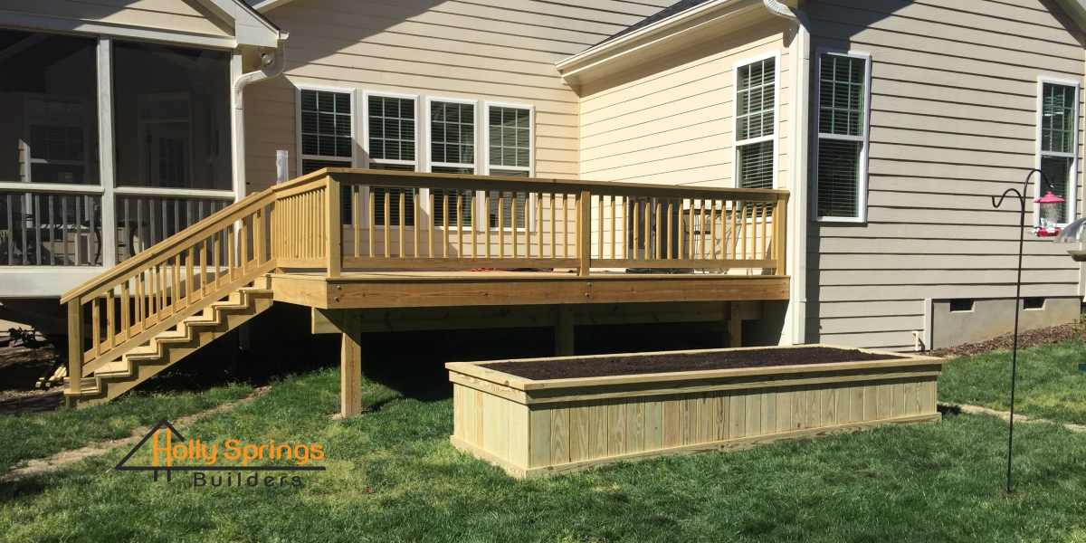 Custom Open Deck and Flower Bed