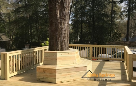 Custom Deck and Seating around tree