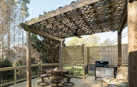 Custom Pergola and Privacy Lattice