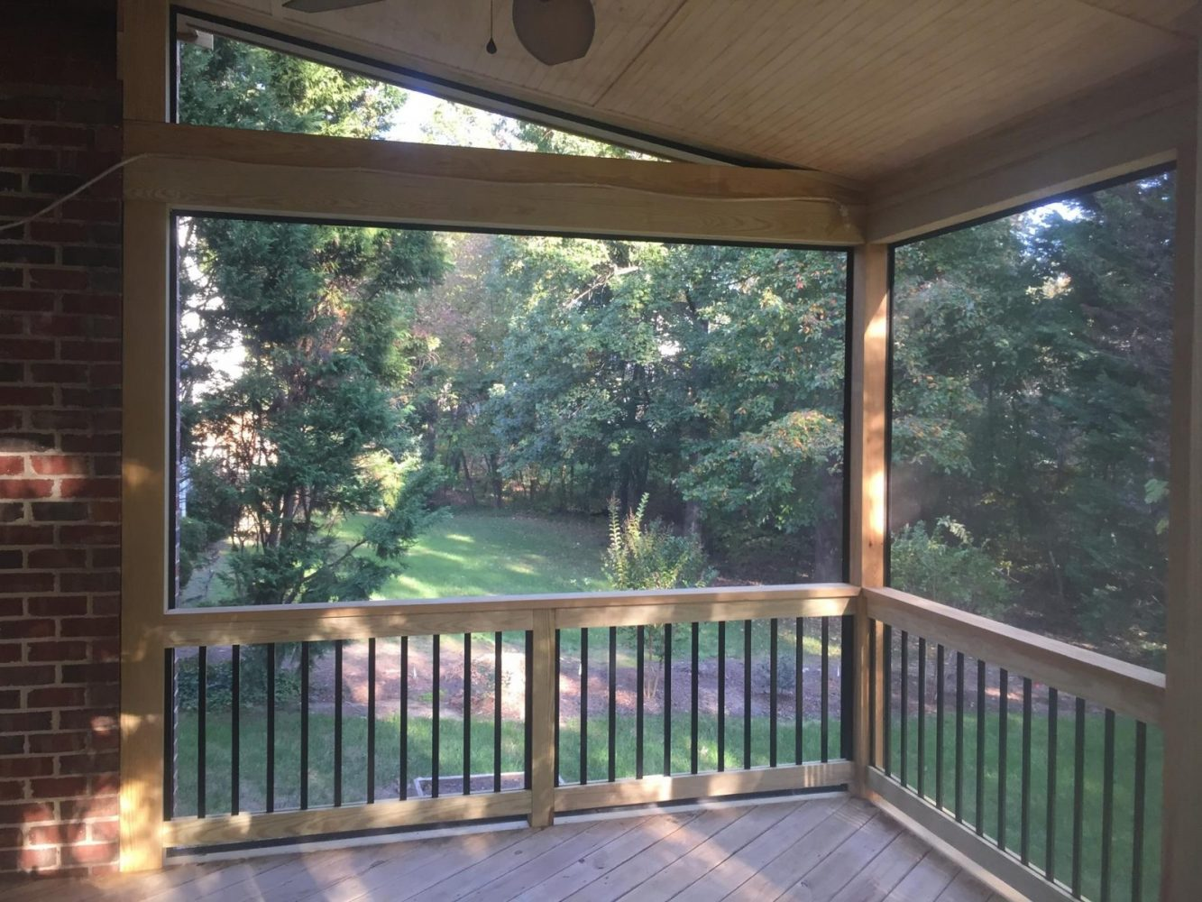 Custom built deck and screened