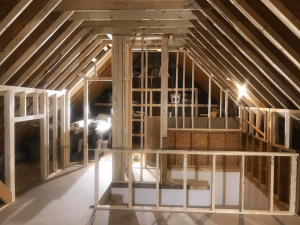 framed attic