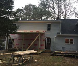 Deck being built