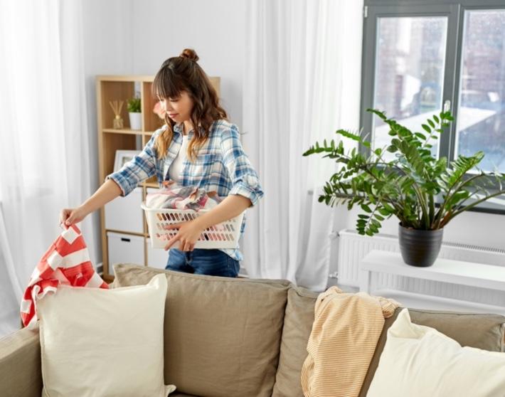 Woman Getting Room Organized